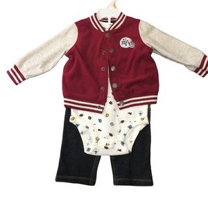 NEW Carter's Baby Boy Football Themed Outfit 12Mos